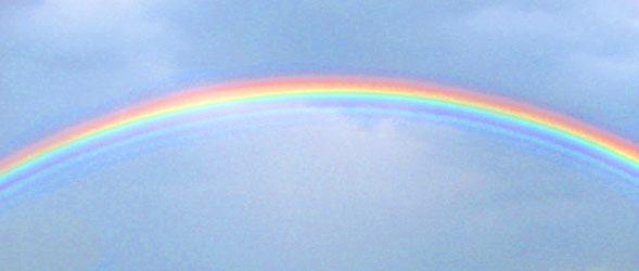 Der Regenbogen zeigt die Spektralfarben | Quelle Wikipedia