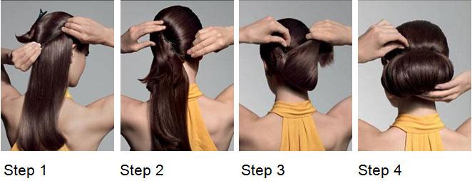 Step 1 bis 4