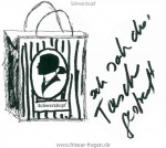 Sketch Karl Lagerfeld Shopping-Bag for Schwarzkopf