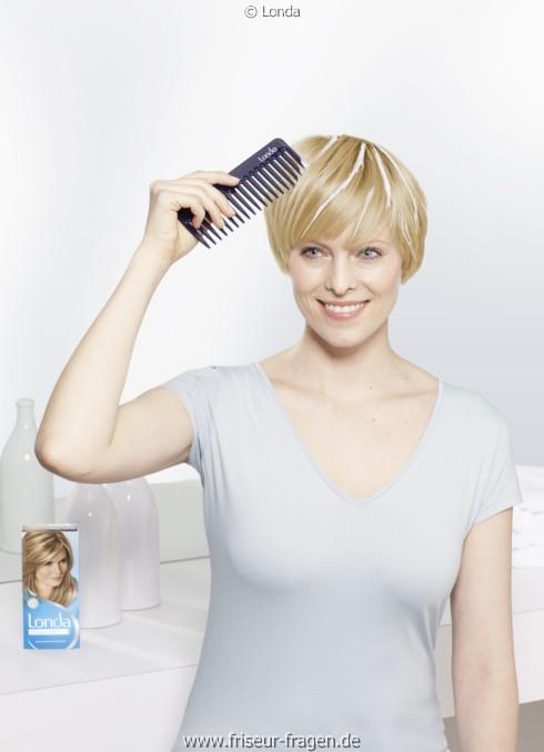 strähnchen kurze haare selber machen